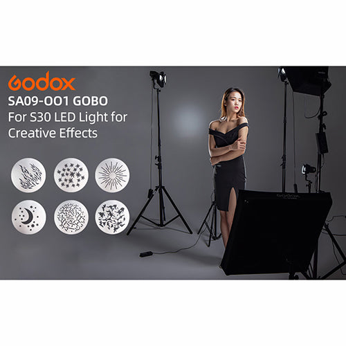Godox SA-09 Gobos Set for S30 LED Light