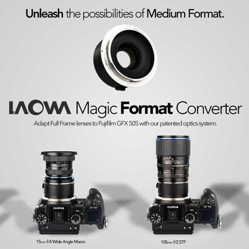 LAOWA Magic Format Converter MFC (Canon EF to Fujifilm GFX)