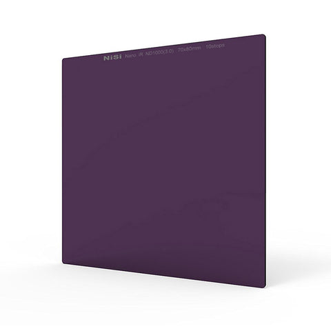 Nisi 70 x 80mm Nano IR Neutral Density Ffilter (ND8/ ND64/ ND1000)