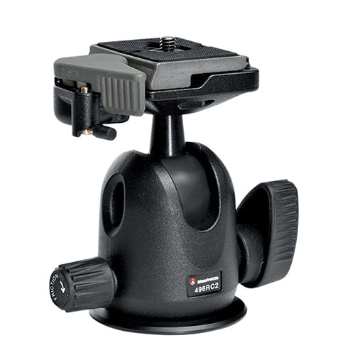 Manfrotto 496RC2 Compact Ball Tripod Head with RC2 Quick Release Plate