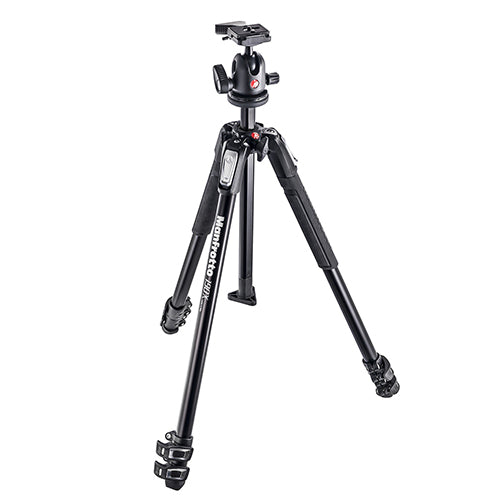 Manfrotto MK190X3-BH Aluminium 3-Section Tripod With 496RC2 Ball Head