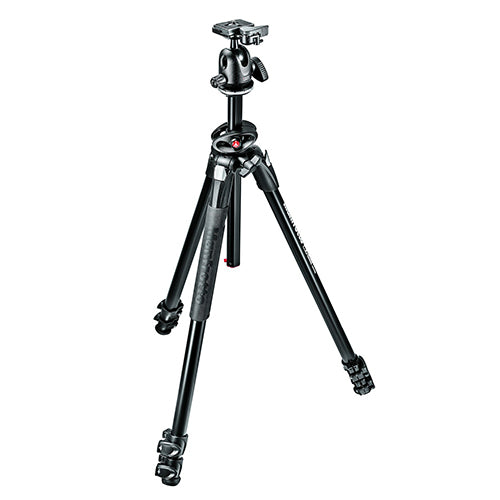 Manfrotto MK290DUA3-BH Dual Alu 3-Section Tripod Kit With 496RC2 Ball Head