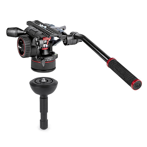 Manfrotto MVKN12CTALL Nitrotech N12 Video Head W/ CF Tall Single Legs Tripod