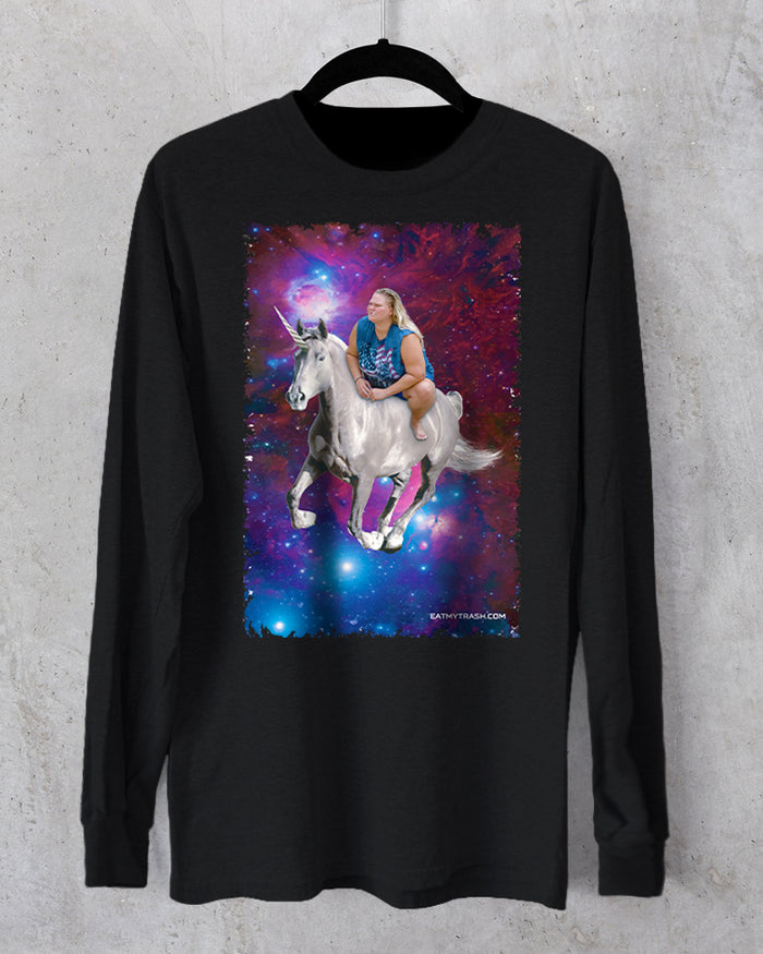 Space Unicorn Long Sleeve T-Shirt