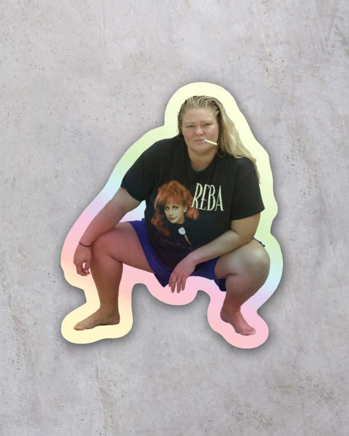 OG Tammy Squat Mini Holographic Sticker