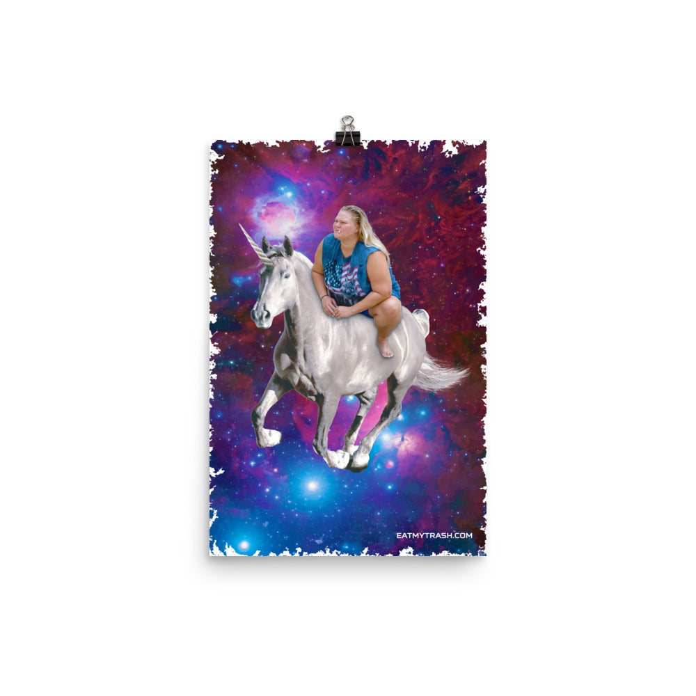 Space Unicorn Poster