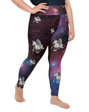 Space Unicorn Full Length Plus Size Leggings