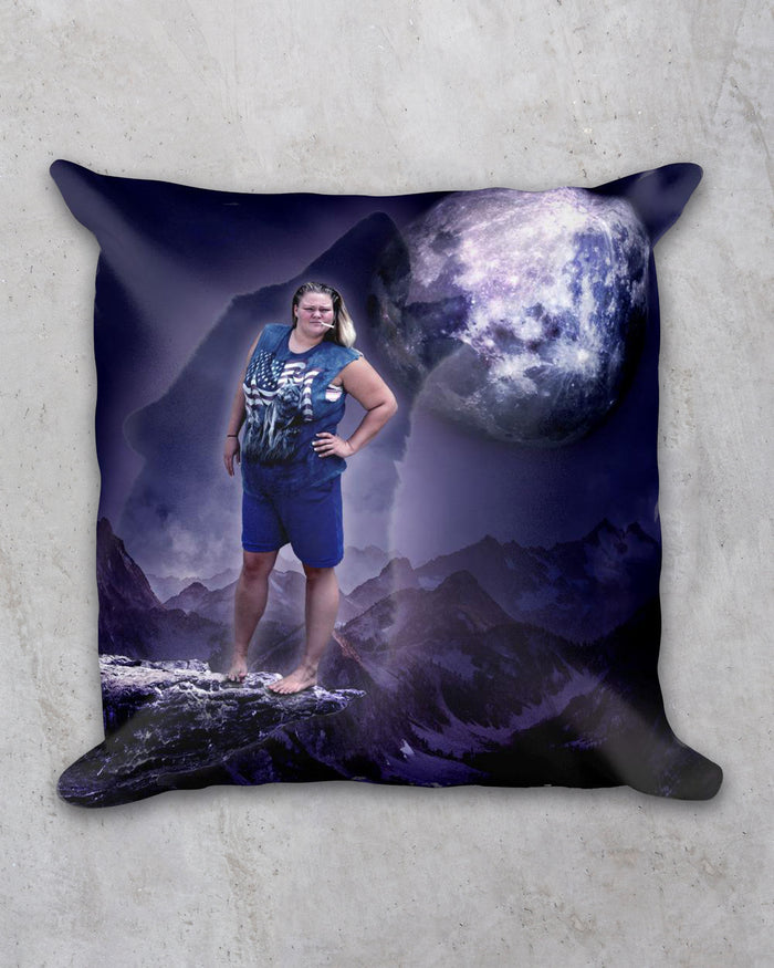 Tammy Wolf Pillow