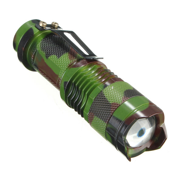 Cycling Light Tactical 7W 1200lm Q5 LED SA3 Zoomable Mini Outdoor Flashlight Torch Lamp Camping Lights Bicycle EA14