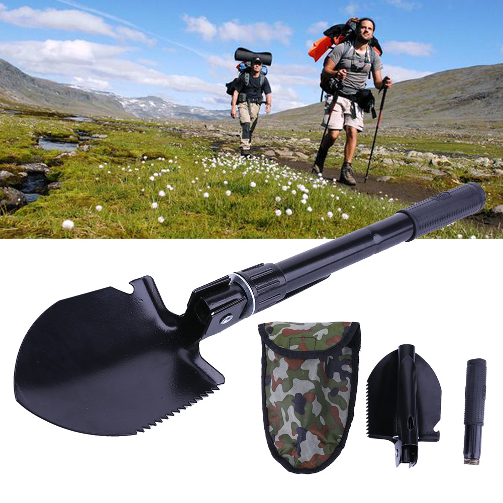 3 in 1 Multi-function Portable Ultra lightweight Folding Tactical Outdoor Camping Hiking Shovel Spade Trowel Outdoor Multi Tools