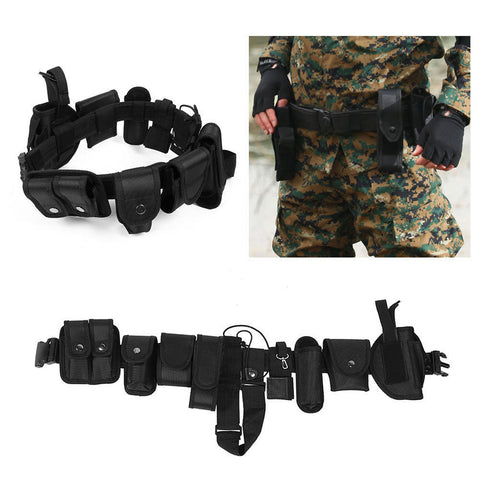 Outdoor Security Guard Modular Enforcement Equipment Duty Belt Tactical Nylon 1.87lb/850g Multi-Function Tools #EW