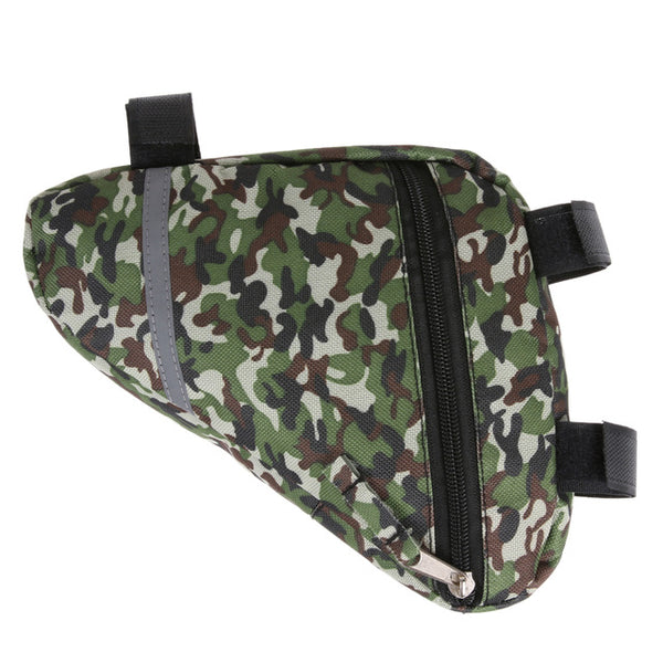 Tactical Camouflage Waterproof Durable Triangle Bags Cycling Bike Bicycle Front Tube Frame Pouch Saddle Bag Bike Bag Panniers