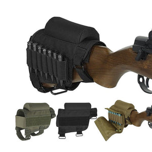 Military Tactical Crown Cheek Rest with Carrier Carrying Case for 300 or 308 Winmag Magazine Pouch Bullet Holster