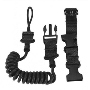OUTAD Outdoor Airsoft Tactical Safety Spring Lanyard Sling Quick Release Shooting Hunting Strap Army Combat Gear
