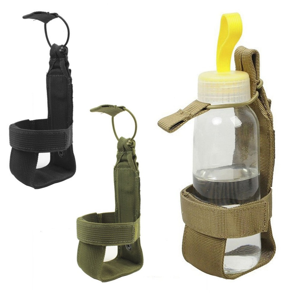 Nylon Tactical Hiking Water Bottle Holder Belt Carrier Pouch Bag Outdoor Useful