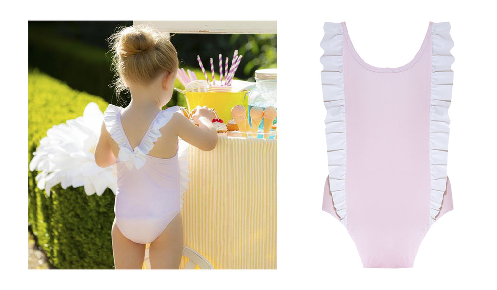 Rosie and Lula Patachou Pink Frill Bow Swimsuit