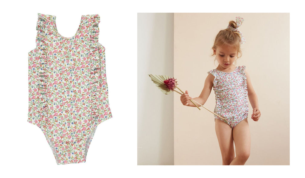 Rosie and Lula Olivier Liberty Print Girls Swimsuit