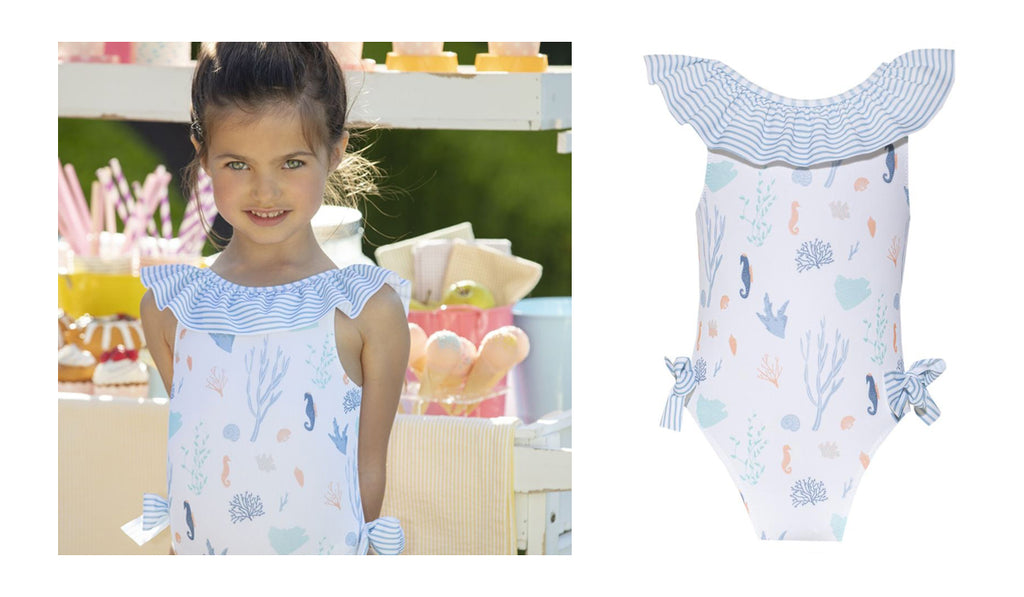 Rosie and Lula Patachou Frill Ocean Swimsuit