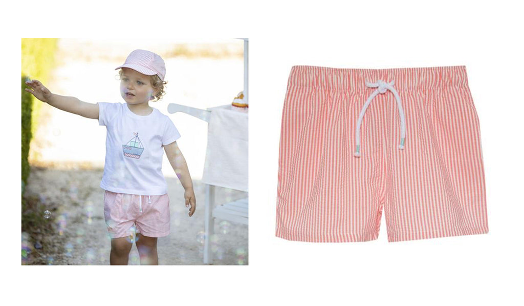 Rosie and Lula Patachou Coral Boys Swimshorts