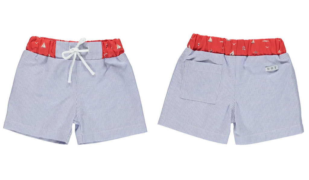 Rosie and Lula Dot Portugal Boys Swimshorts