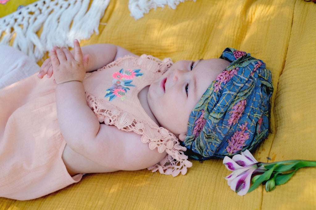 Louise Misha Eden Headband Lagoon Leaves