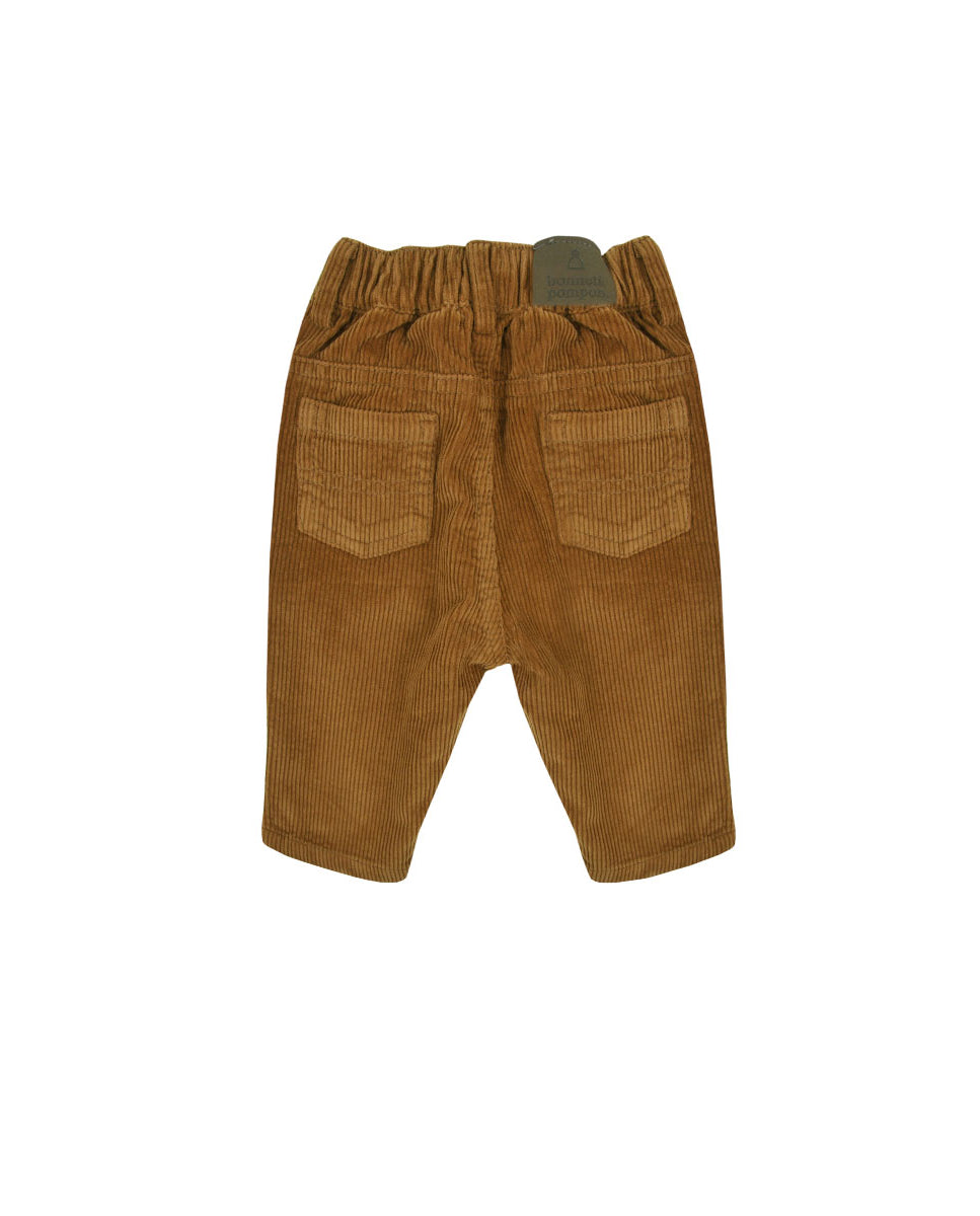 Bonnet a Pompon Wood Corduroy Baby Boy Trousers