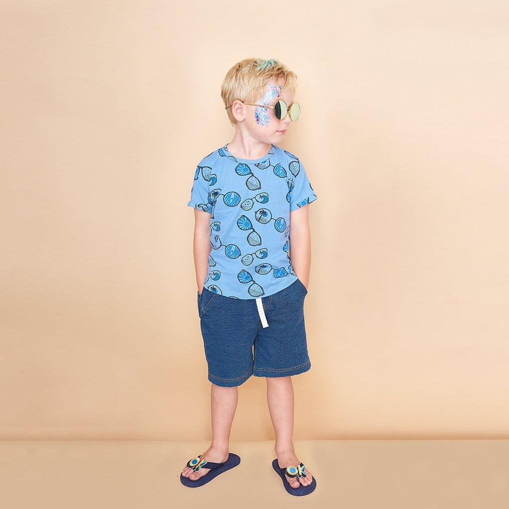 The Bonnie Mob Brock Printed Kids T-Shirt