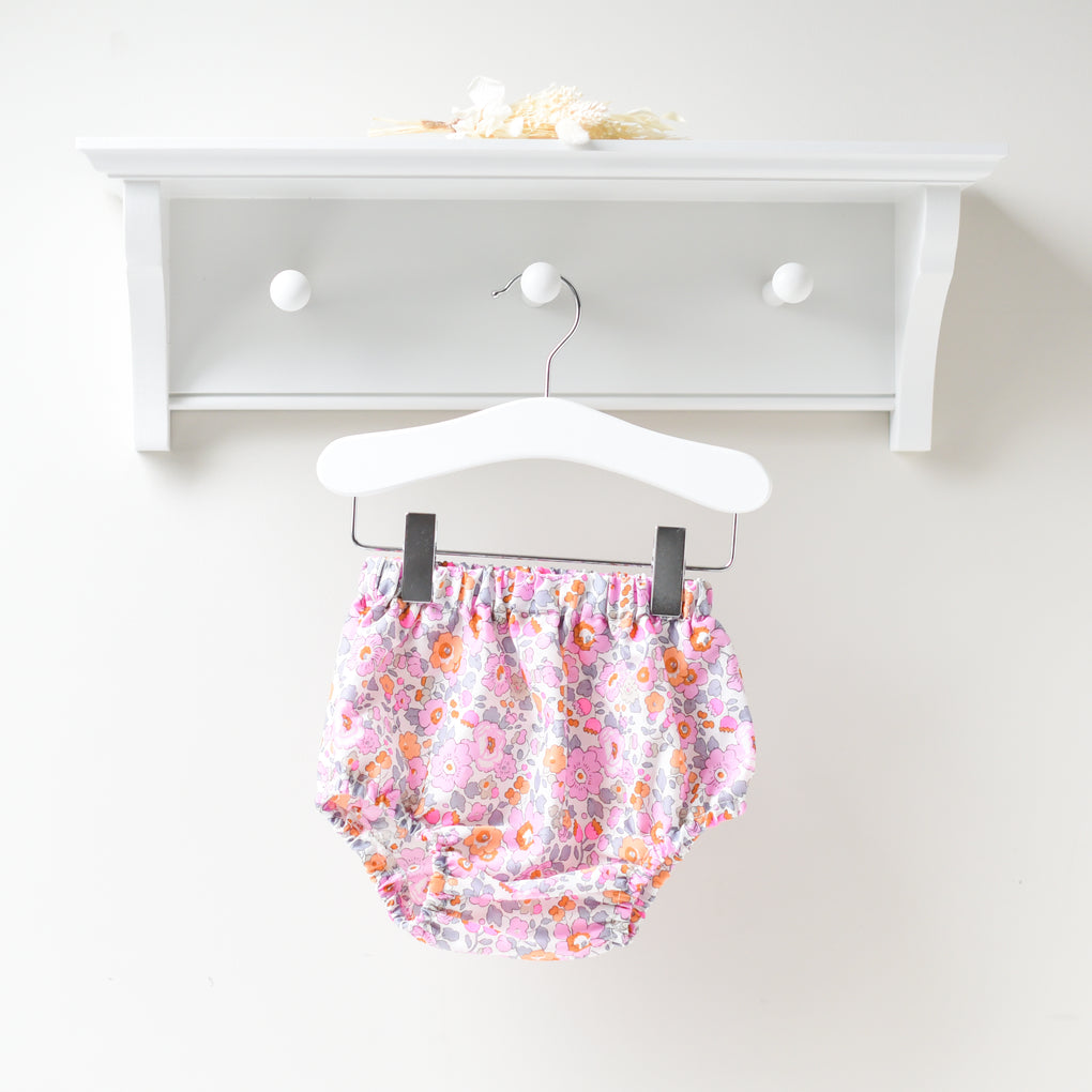 Floral Threads Pink Floral Liberty Print Bloomers