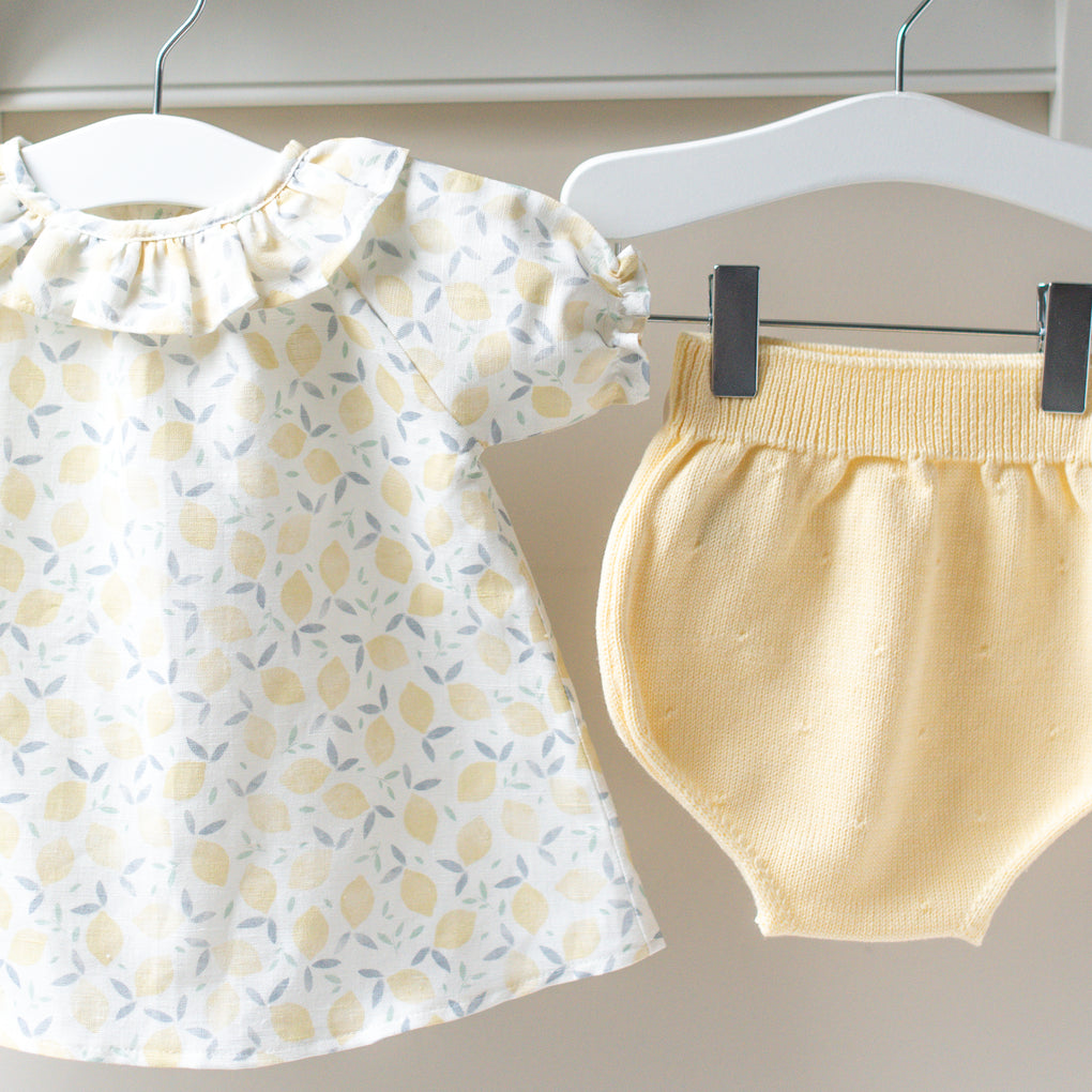 Mebi Lemon Yellow Outfit Set