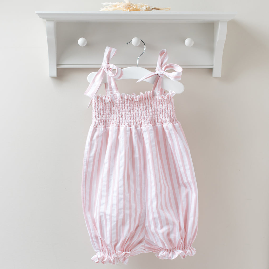 Dot Caroline Pink and White Stripe Jumpsuit
