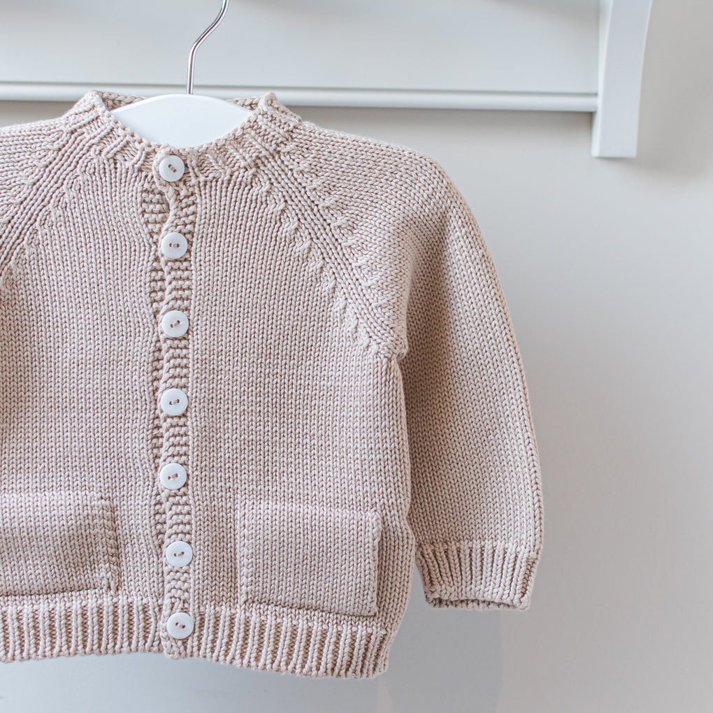 Wedoble Beige Cotton Knit Cardigan