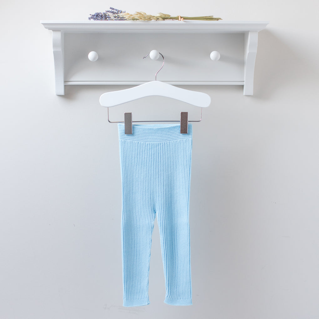 Wedoble Baby Blue Cotton Knit Leggings