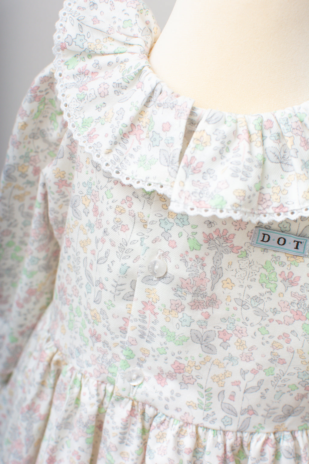 Dot Pink Flower Juliana Dress