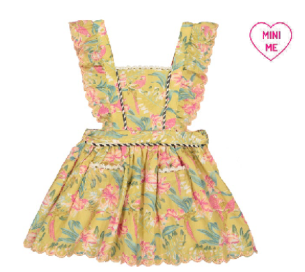Louise Misha Mistinguette Soft Honey Parrots Dress