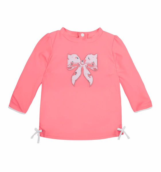 Sunuva Baby Girls Pink Ditsy Rose Rash Vest