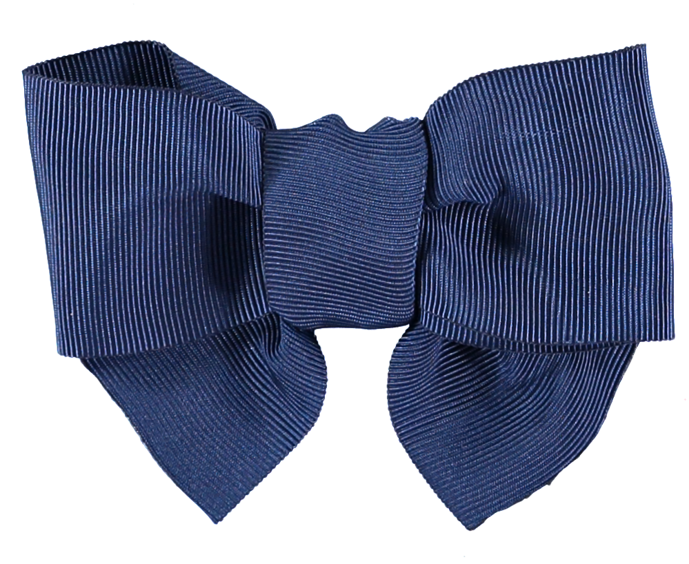 Benedita Grosgrain Navy Blue Hair Bow Small