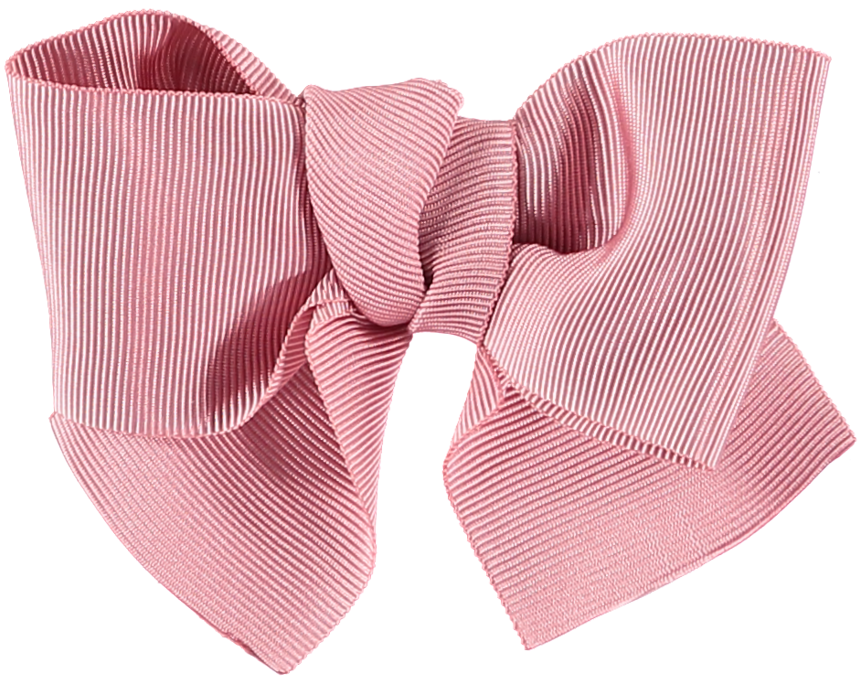 Benedita Grosgrain Dusty Pink Hair Bow Small