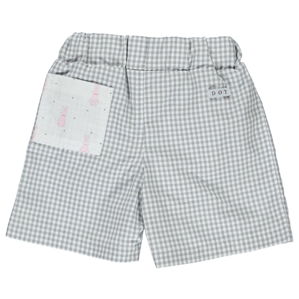 Dot Portugal Grey Check Pedro Swim Shorts