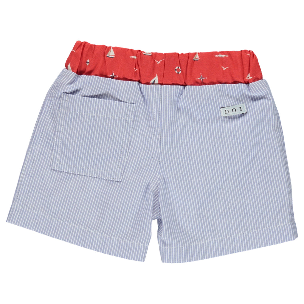 Dot Portugal Pedro Swim Shorts Red Boat Print