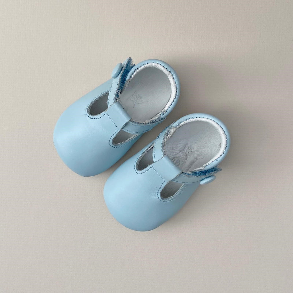Papouelli Poppi Pale Blue Baby Shoes