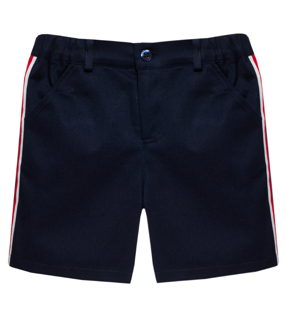Patachou Navy Shorts with Stripe