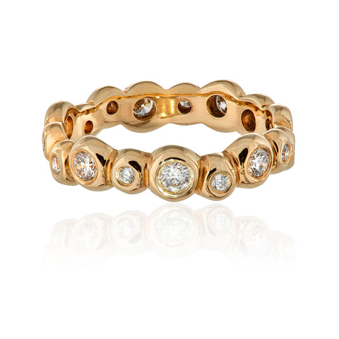 Eternity Ring 9ct Gold and Diamond