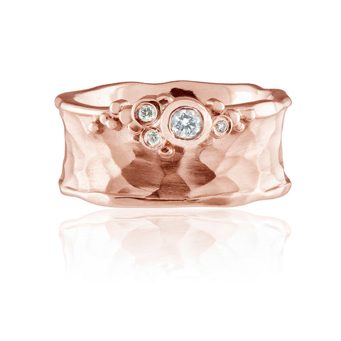 Flint Edge Set Ring 9ct Rose Gold