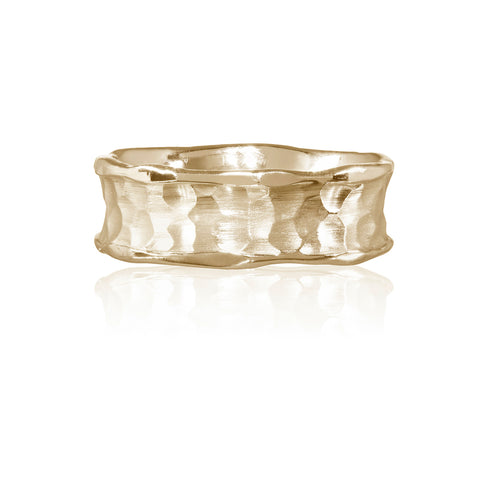 Flint Plain Medium Width Ring 9ct Yellow Gold