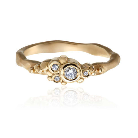 Flint Cluster Ring 9ct Yellow Gold