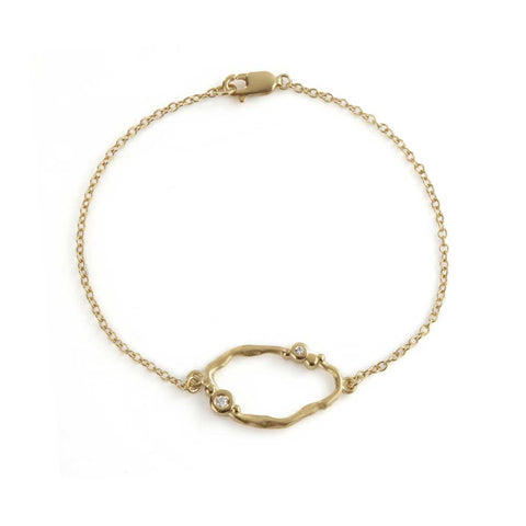 Flint Loop Bracelet 9ct Gold
