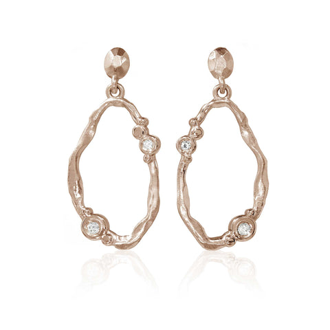 Flint Loop Earrings 9ct Rose Gold