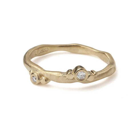 Flint Skinny Ring 9ct Yellow Gold