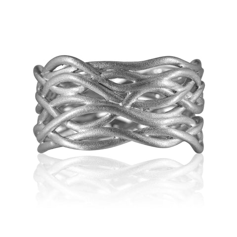 Reed Plain Nest Ring 9ct White Gold