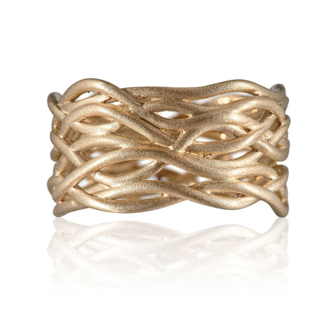 Reed Plain Nest Ring 9ct Gold